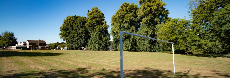 Goals installed on the Barncroft